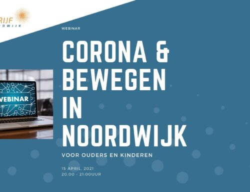 """Webinar """"Corona en bewegen in Noordwijk"""""""